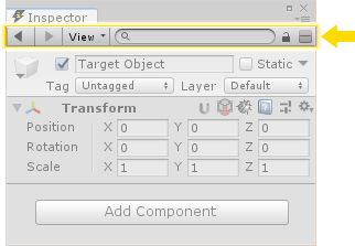Toolbar in Unity Inspector